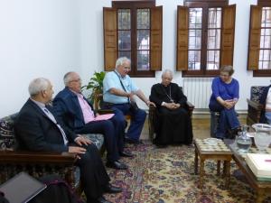 responsables ILDES et père Nasralla curé de Kaa